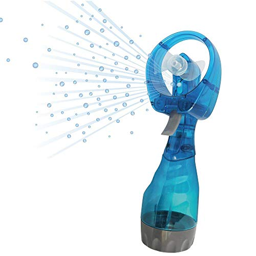 Out of the blue - Ventilator mit Sprühflasche